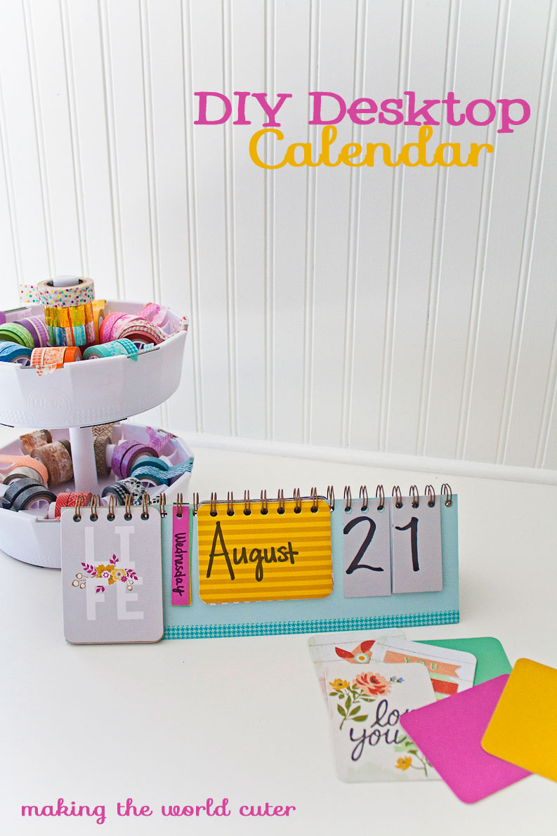 DIY Desktop Calendar using elements from Albums made Easy kits.