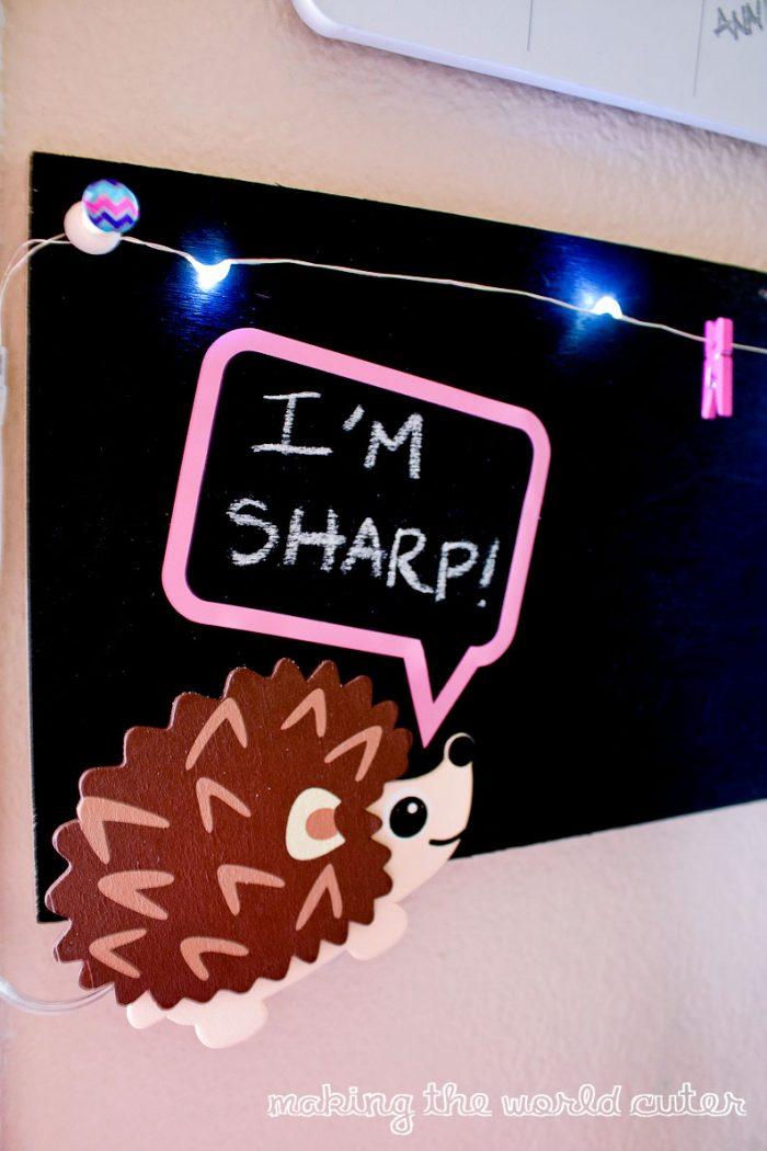 Adorable Hedgehog light up brag board