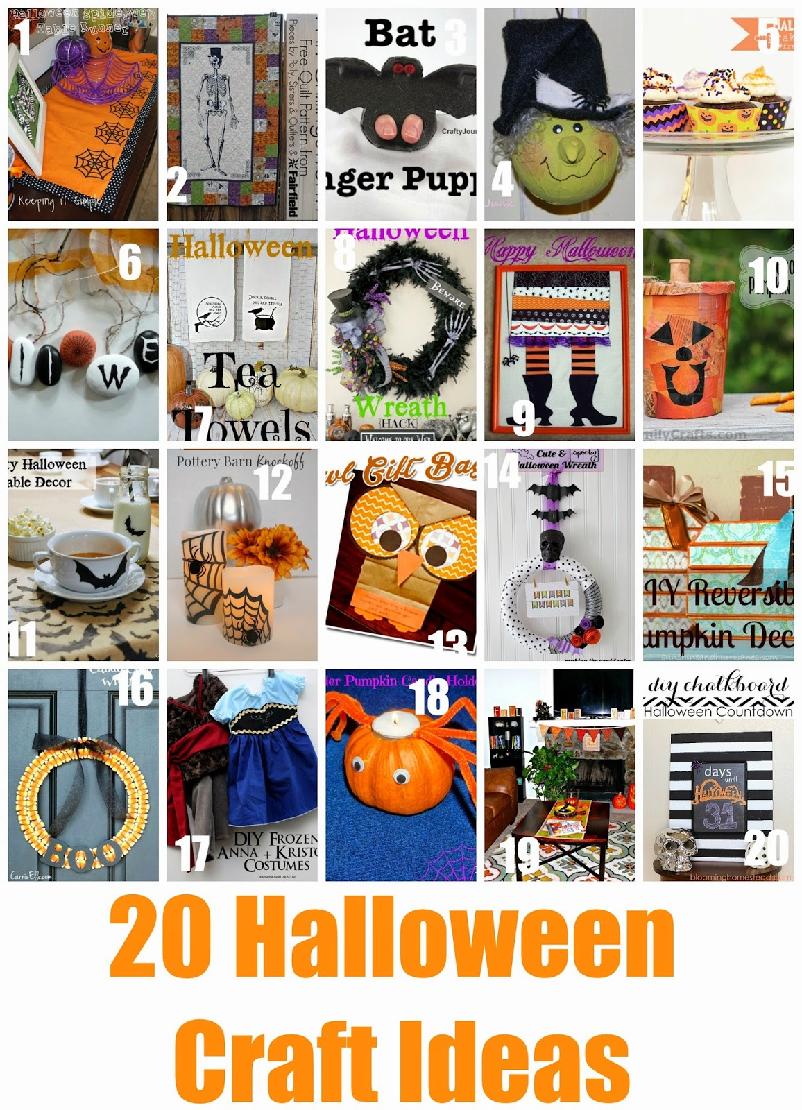 20 Halloween Craft Ideas