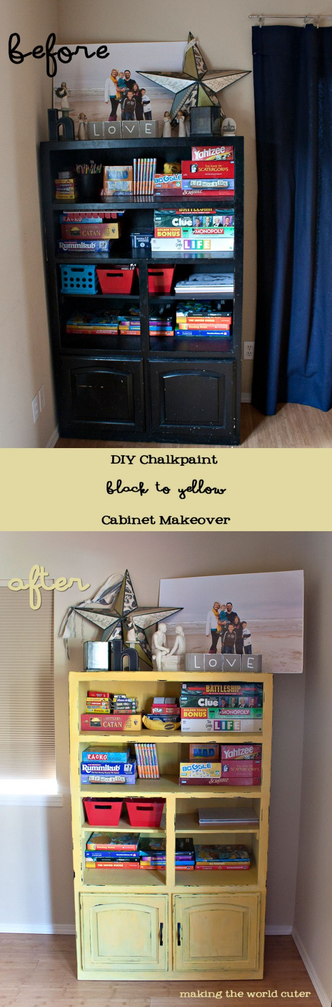 DIY Chalk Paint Cabinet Makeover! Love this color!