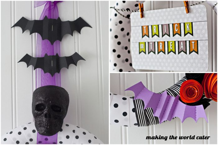 Cute and Spooky Halloween Wreath at Making the World Cuter