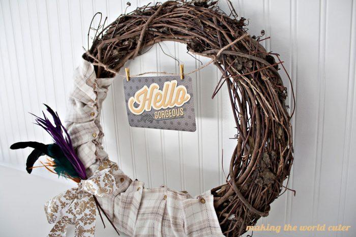 Hello Gorgeous Fall Wreath