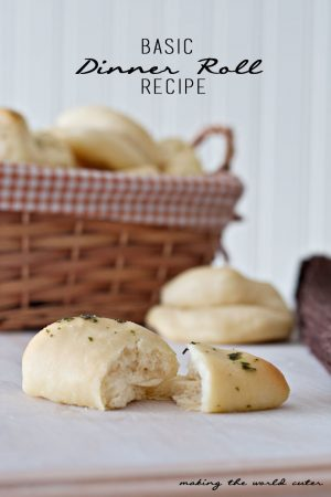Basic Dinner Roll Recipe with a sweet and a savory variation. Perfect for all those fall soups and for Thanksgiving!