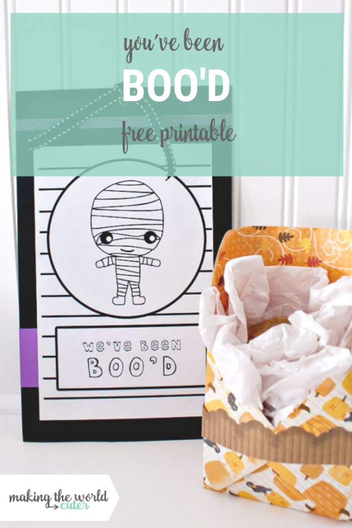 You've Been Boo'd Free Printable Door Hanger and instruction sheet