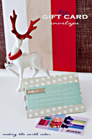 DIY Gift Card Envelope using an envelope punch board