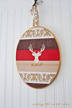 I use antlers in all of my decorating! Deer Head Silhouette Wall Art at Making the World Cuter.