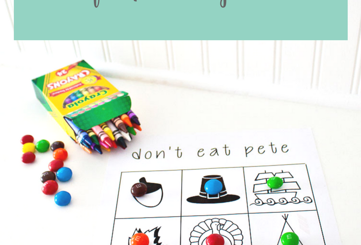 Thanksgiving Don't Eat Pete Coloring Page