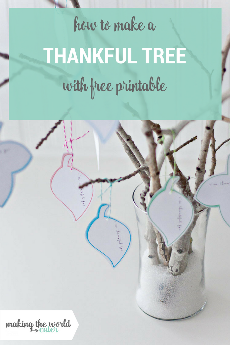 How to make a Thankful Tree with Free Printable Leaves