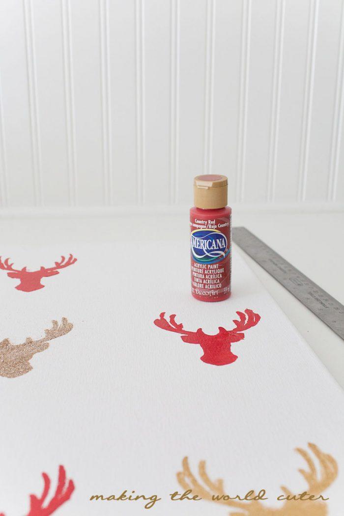 DIY Santa's Reindeer Art from Making the World Cuter