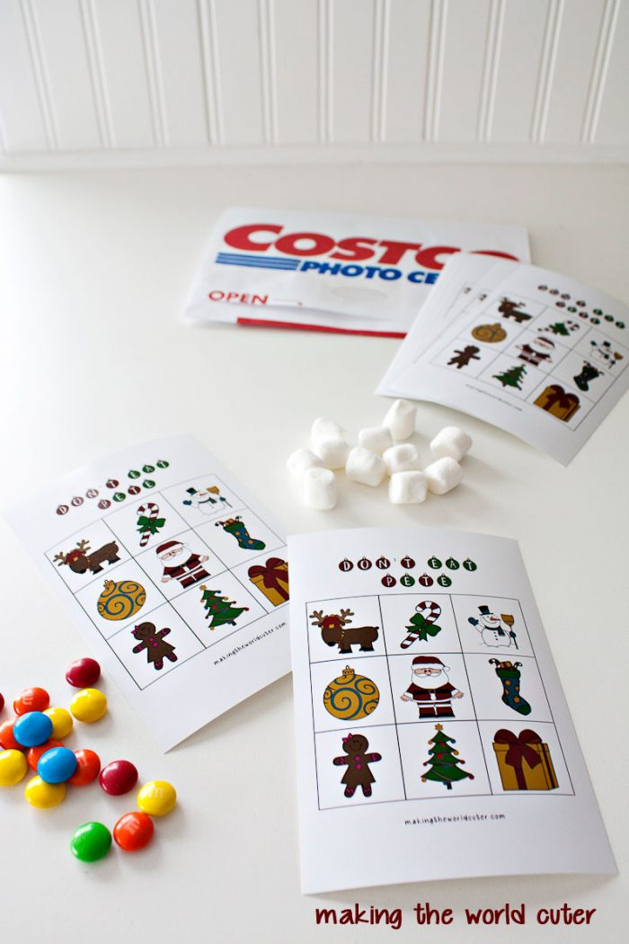 Don't Eat Pete Christmas free printable game, perfect for neighbor gifts and classroom parties