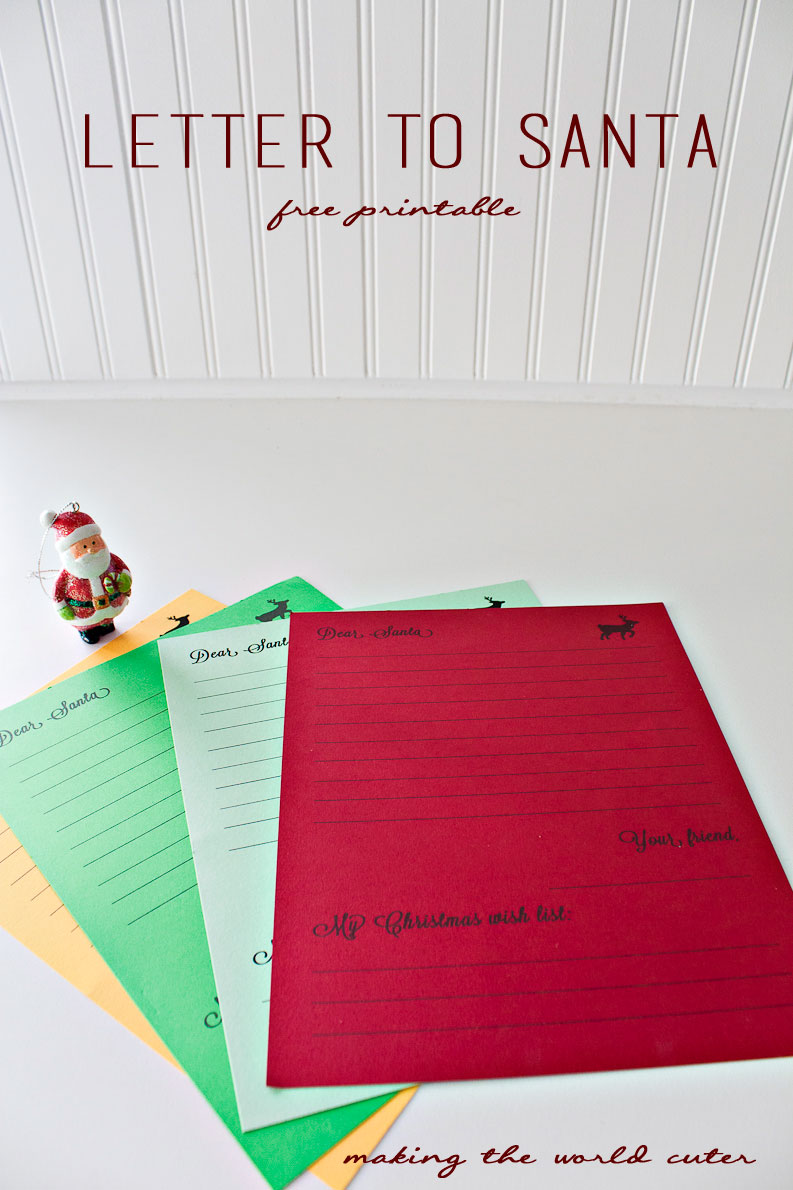 free letter from santa letter to santa template 21854