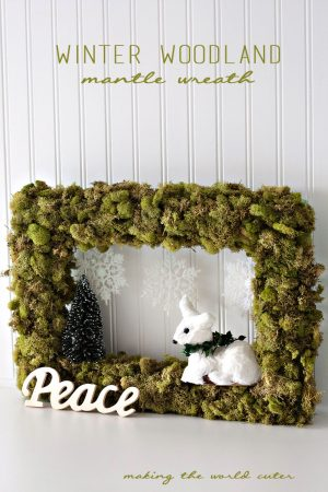 Winter Woodland Mantle Wreath at Making the World Cuter. SO cute!