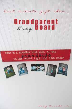 Last Minute Gift Idea | Grandparent brag board, easy if you have a digital cutter!