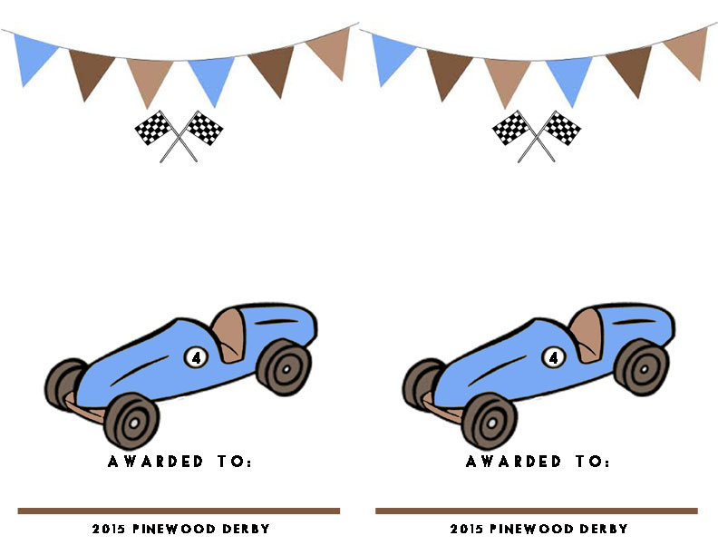 Handy image pertaining to free printable pinewood derby certificates