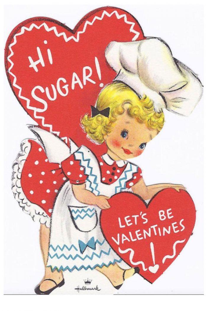 Kitchen Themed Vintage Valentines Printables