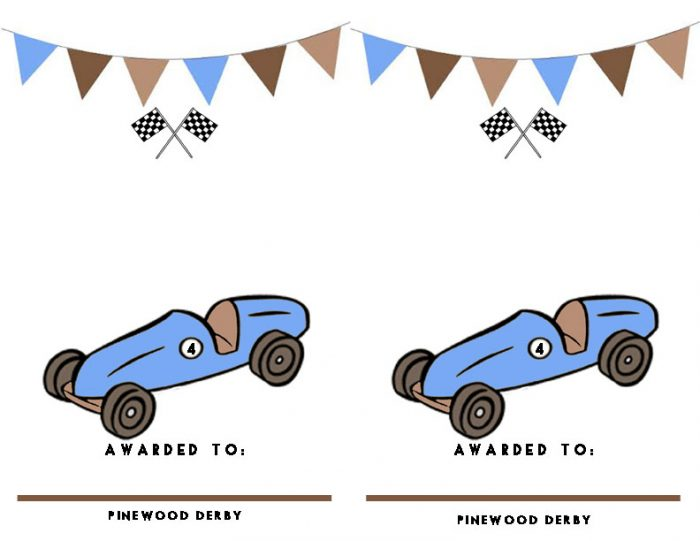 picture regarding Pinewood Derby Awards Printable called Pinewood Derby Certificates