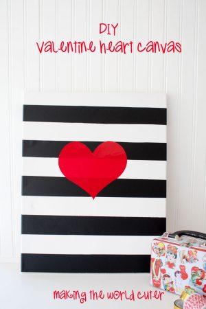 DIY Valentine Canvas