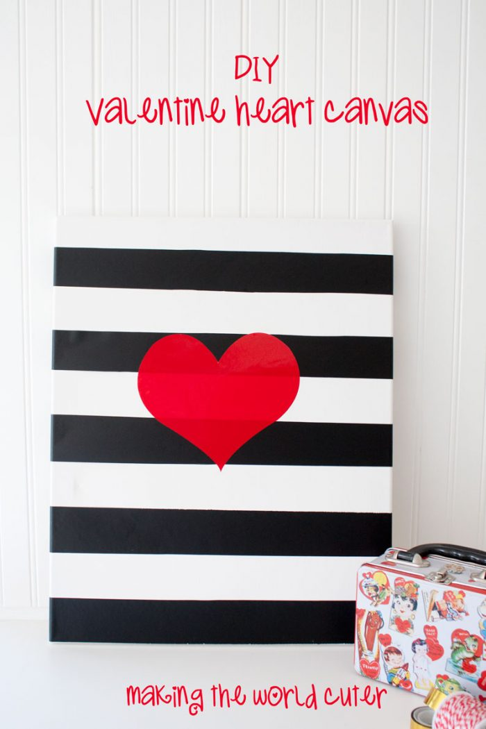 DIY Valentine Canvas