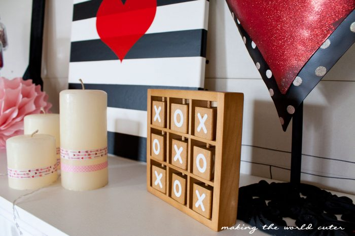 Valentine Mantel Decor Ideas at Making the World Cuter