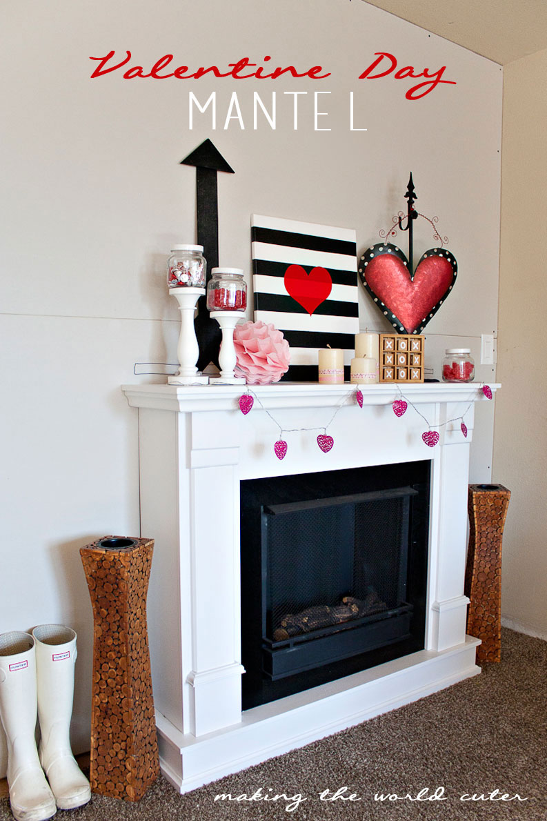 Valentine Day Mantel