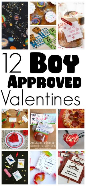 12 Valentines for Boys