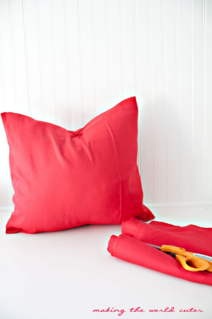 Making the World Cuter DIY throw pillows