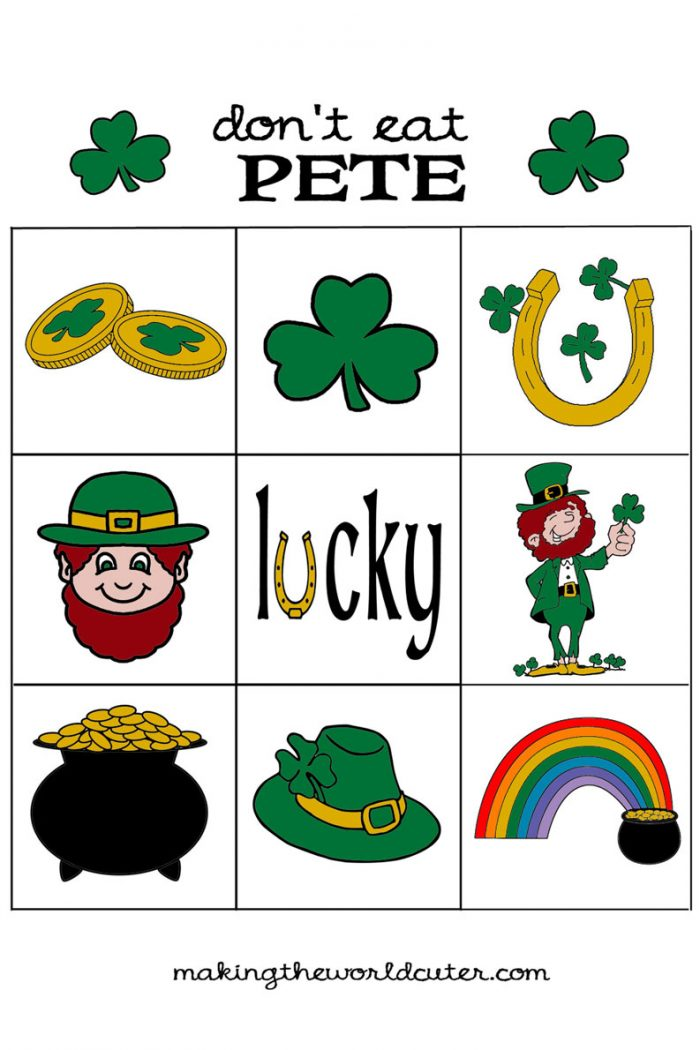 St Patricks Day Printable Don't Eat Pete Making the World Cuter