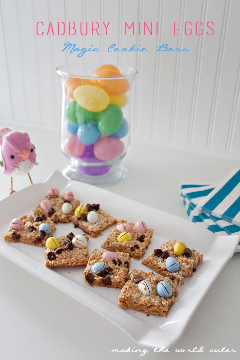 Cadbury Mini Eggs Magic Cookie Bars