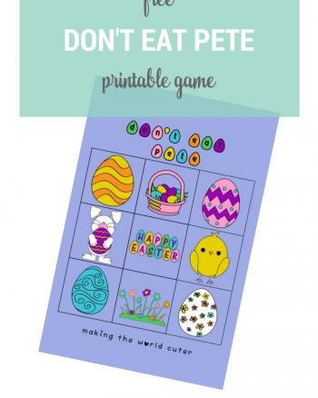 Free Don't Eat Pete Printable Game