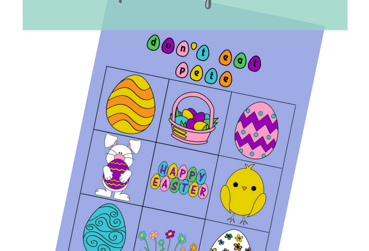 Easter Printable Don't Eat Pete