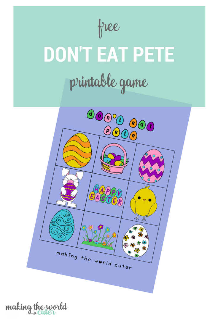 Free Don't Eat Pete Easter Printable Game