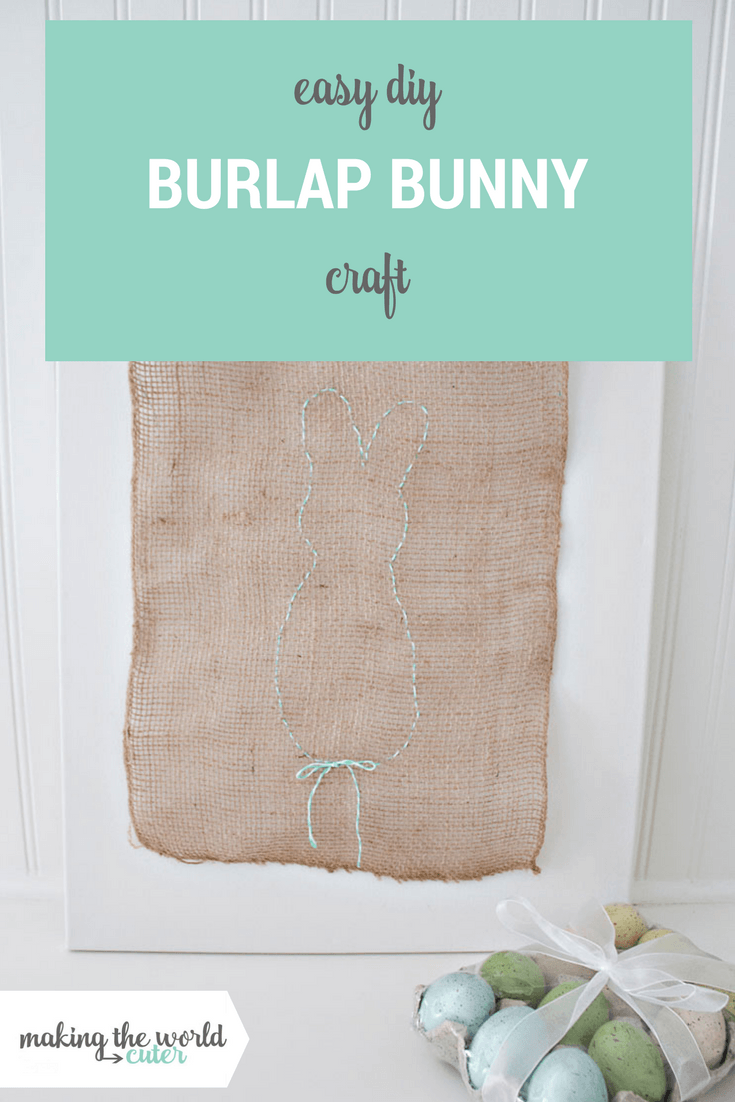 Easy DIY Burlap Bunny Craft for Easter or Spring