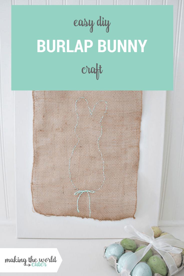 Easy DIY Burlap Bunny