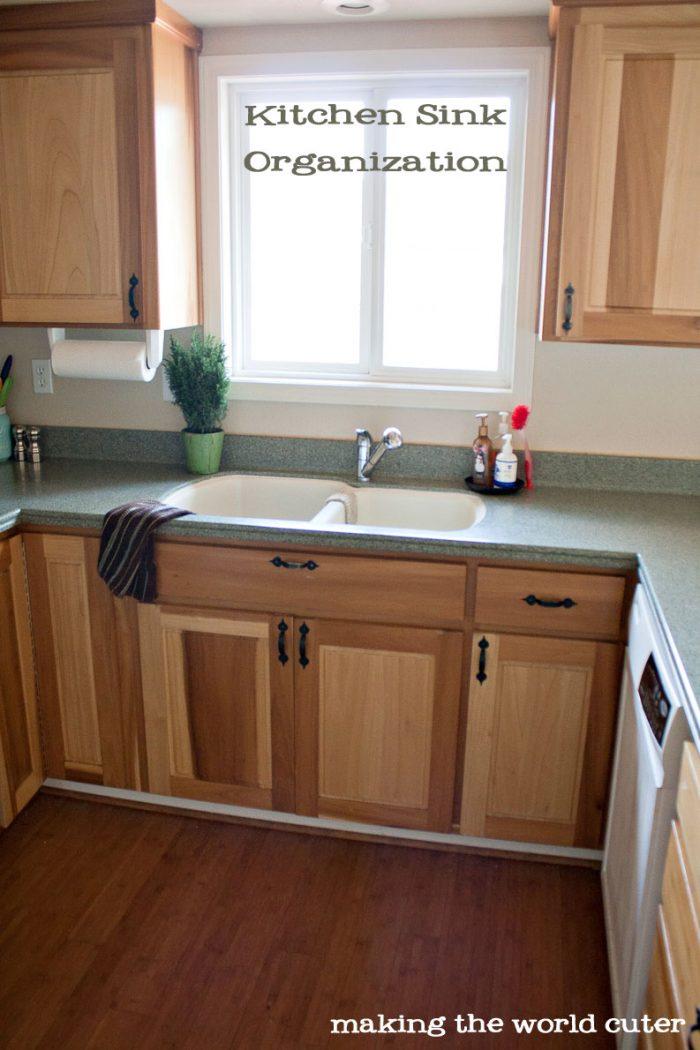 kitchen sink organizer ideas from making the world cuter - Kitchen Sink Organizer
