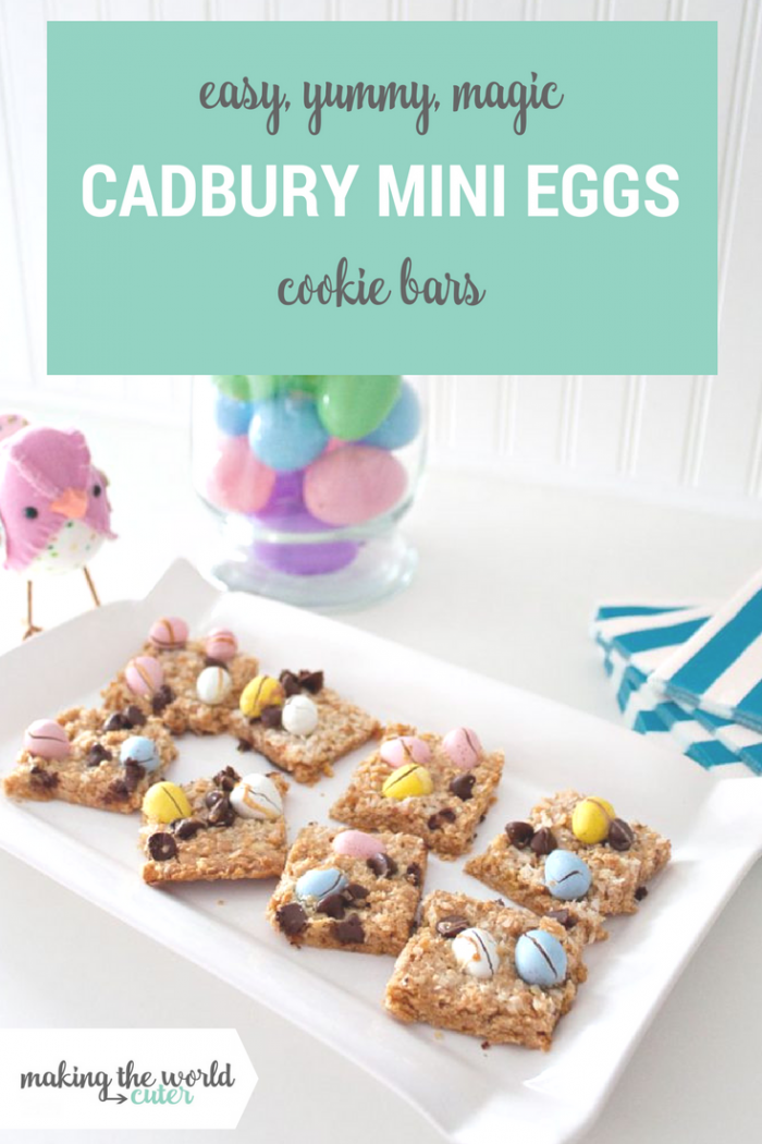 Easy, Yummy, Magic Cadbury Mini Eggs Cookie Bars Recipe for Easter Dessert
