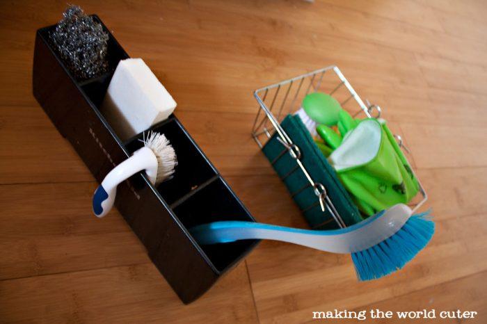 Kitchen Sink Organizer Ideas from Making the World Cuter