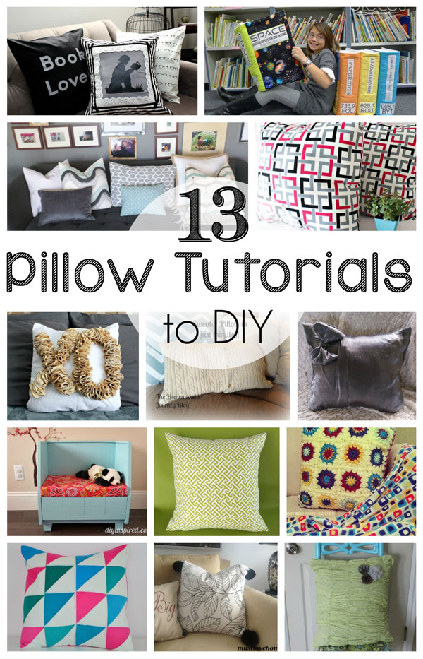 13 DIY Pillow Tutorials