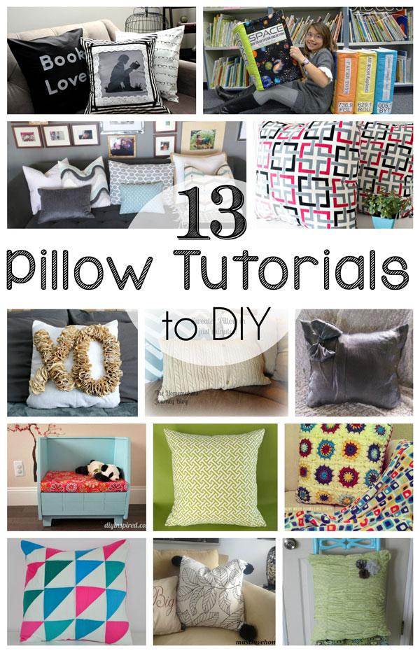 Diy Quilted Throw Pillow : 13 DIY Pillow Tutorials