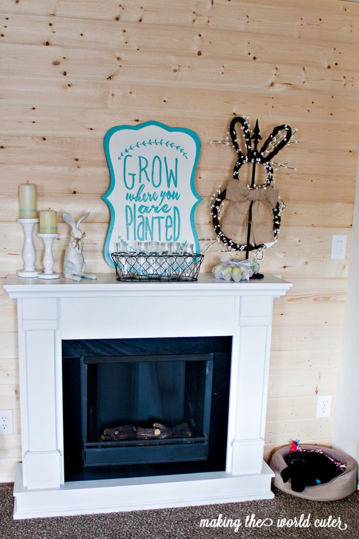 Easter Mantel Decorations for Spring