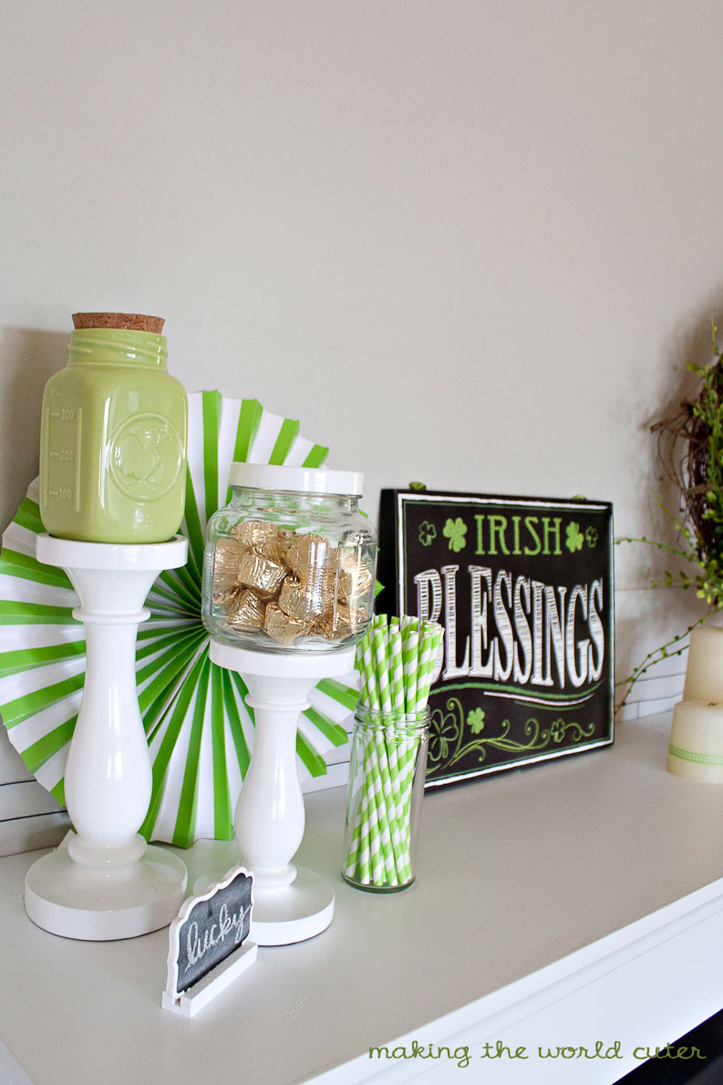 Making the World Cuter. Pretty and Simple St Patricks Day Decorating Ideas