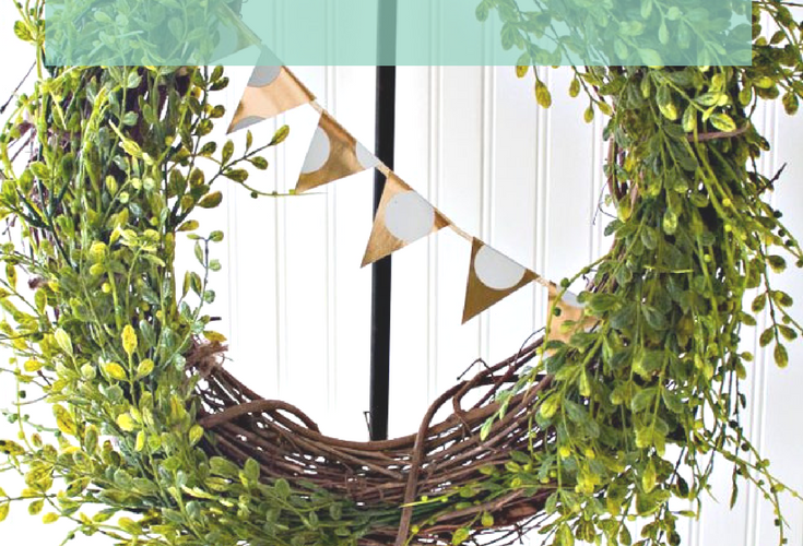 Easy Spring Wreath {St Patricks Day}