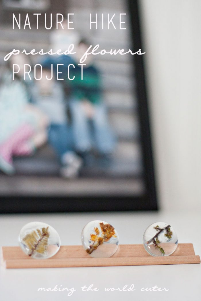 A fun project to do with your kids with all of the little findings they gather on nature walks and hikes. Using the glass stones and some glue you can make some cute little display stones. #RaisingGoodApples