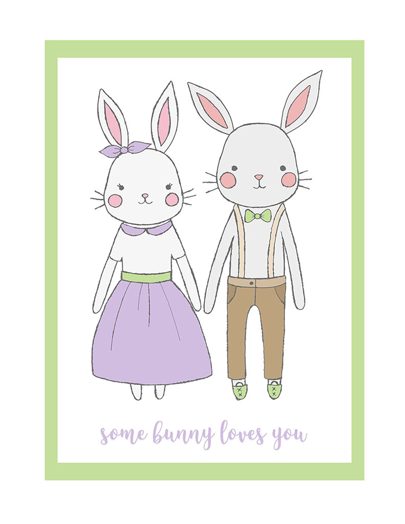 Somebunny Loves You Free Printable