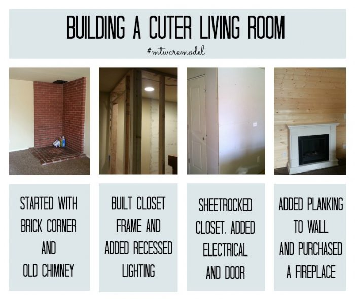 These are the before pictures of a super cute living room remodel. You have to see the afters! Such great ideas.