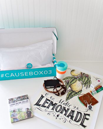 Summer CAUSEBOX 03. Everything in these subscription boxes are helping people, and come from inspiring companies.