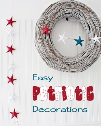 DIY 3d Paper Stars 4th of July Decorations. Great DIY projects, a cute summer mantel and more! #makingtheworldcuter