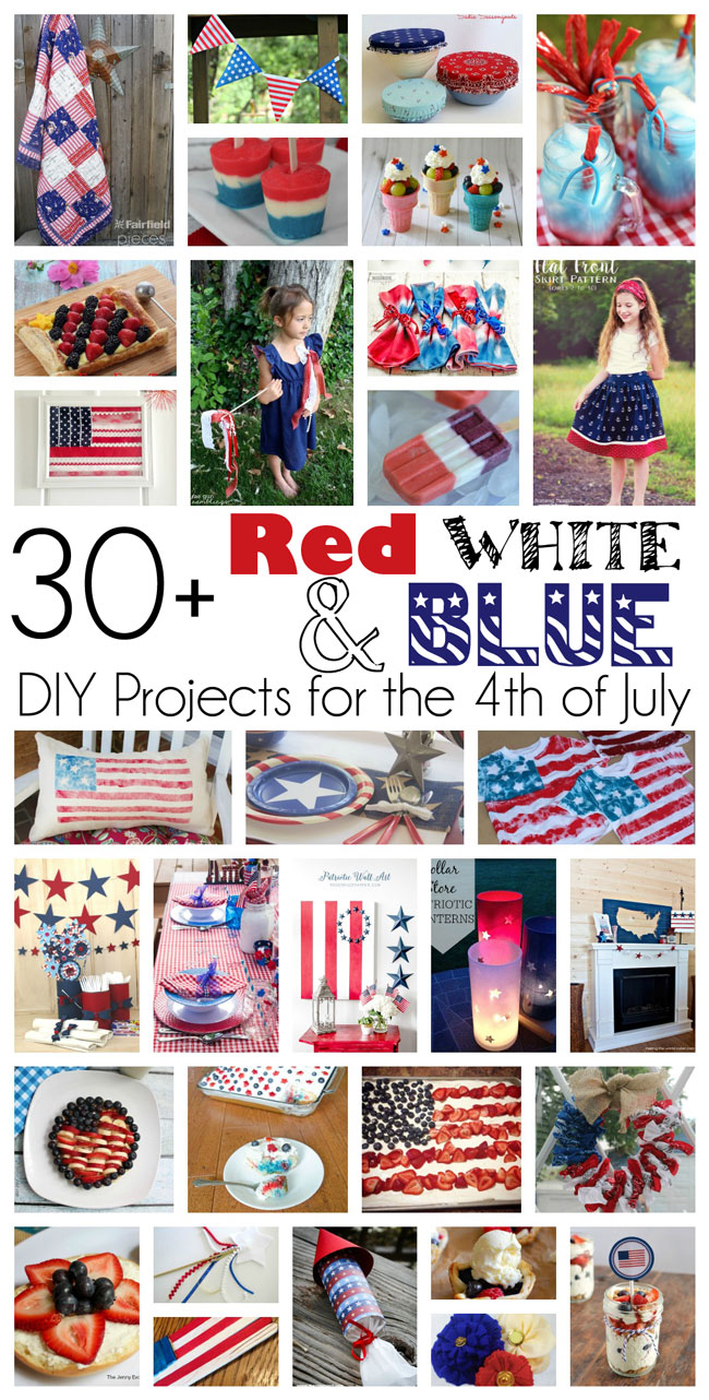 30 Red White and Blue Projects