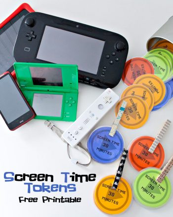 Screen Time Tokens. Use as a reward system for the kids after they are done with their jobs. At the end of the week if they have any leftover they get to trade them in for prizes.
