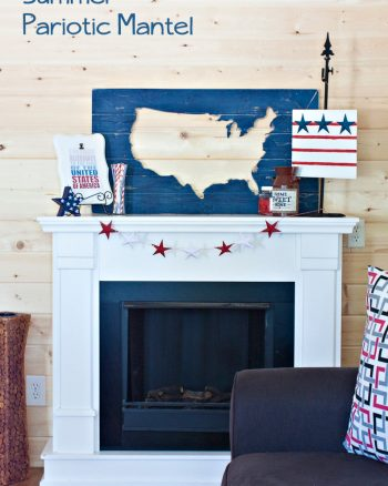 4th of July Decorations. Great DIY projects, a cute summer mantel and more! #makingtheworldcuter