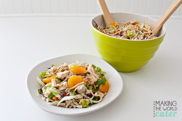 Delicious Asian Chicken Salad Recipe-using some ready to eat ingredients, this can be whipped up super fast and ready for a meal, or a side dish in minutes.
